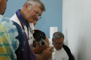 Dr. Ailes and volunteer Ray Frederick